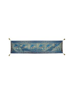 Lal Haveli Handmade Elephant Design Silk Dining Table Runner Table Decor 72 x 16 inch