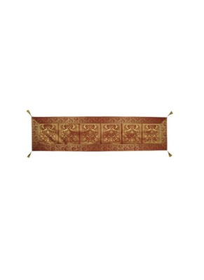 Lal Haveli Elephant & Peacock Design Silk Fabric Table Decorations Table Runner 72 x 16 inch