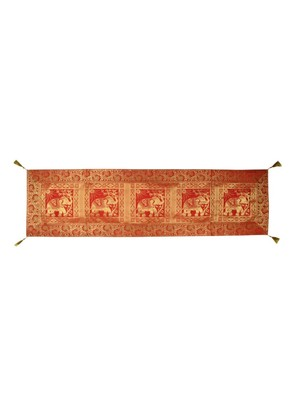 Lal Haveli Rectangle- Silk Table Runner- for Wedding/Party/D?cor 60 x 16 inch