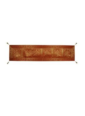 Lal Haveli Living Room Table Decorations Elephant Peacock Design Orange Silk Table Runner 72 x 16 inch