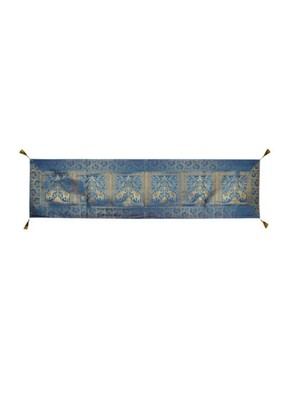 Lal Haveli Decorative Elephant & Peacock Design Rectangle Shape Silk Table Runner 72 x 16 inch