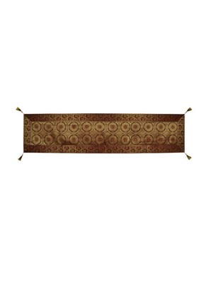 Lal Haveli Maroon Color Wedding Banquet Table Decoration Designer Silk Table Runner 72 x 16 inch
