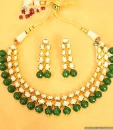 Royal Look Kundan Double Line Necklace Set