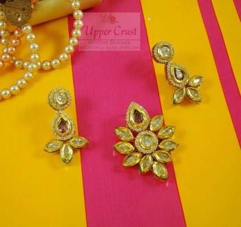 CZ Kundan Polki Pendant Earring Jewellery