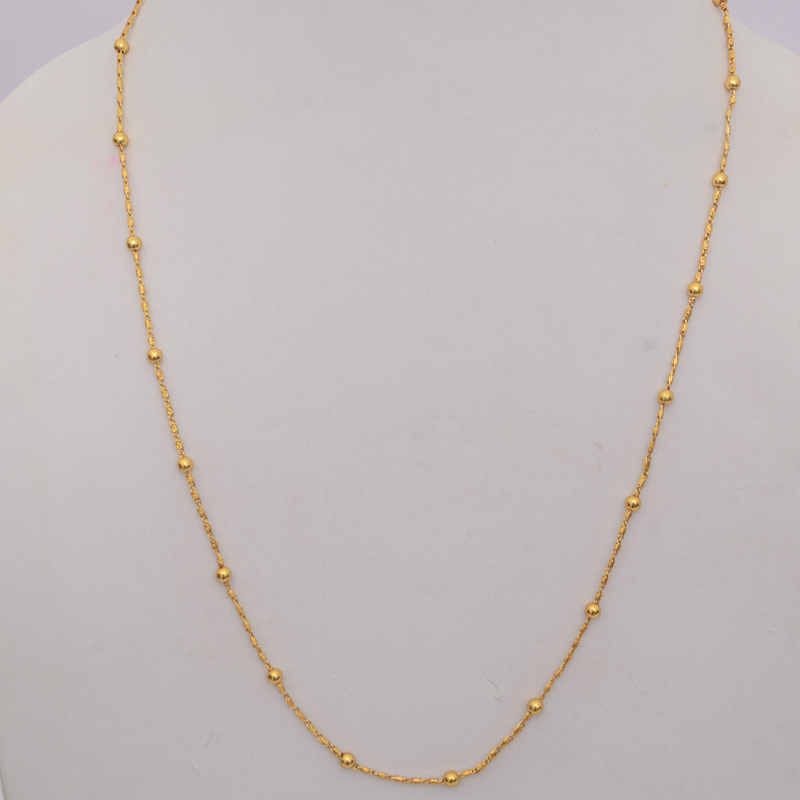 Buy Stylish Gold Colored Daily Wear Chain Online
