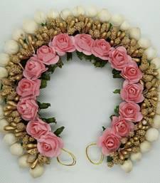 babyPink Rose Flower Hair Veni