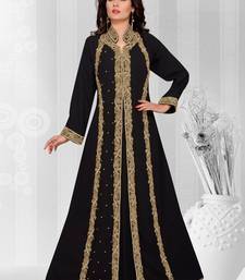 Black embroidered georgette islamic kaftans