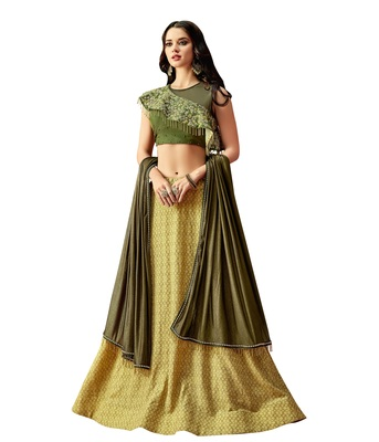 Yellow Color Satin Designer Lehenga Choli
