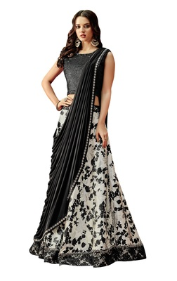 Off White Color Silk Designer Lehenga Choli