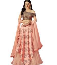Peach Color Silk Designer Lehenga Choli