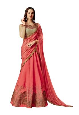 Red Color Silk Designer Lehenga Choli