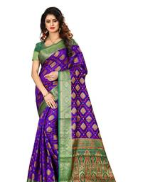 Buy Purple woven patola saree with blouse patola-saris online