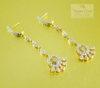 Elegant CZ Diamond Dangle Earrings