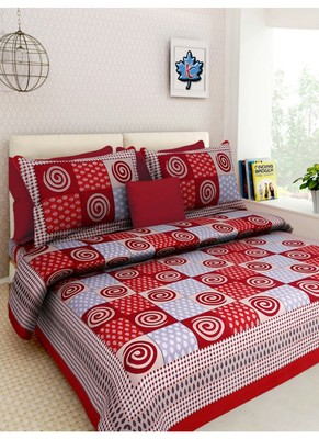 Indian Print Queen Size Cotton Bedding Bedsheet With 2 Pillow Cover Sanganeri Double Size