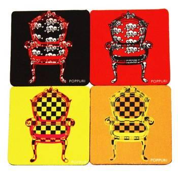 Popseat Coasters (set of 4)