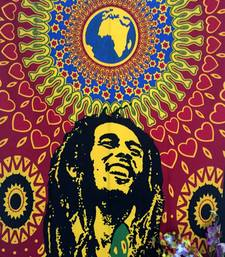 Smile Bob Marley Cotton Twin Tapestry