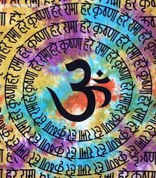 Om Hare Rama Hare Krishna Cotton Twin Tapestry
