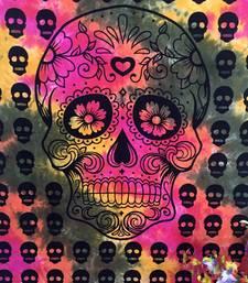 Skull Multi Cotton Twin Tapestry