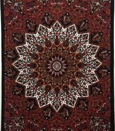 Flower Brown Twin Tapestry Cotton