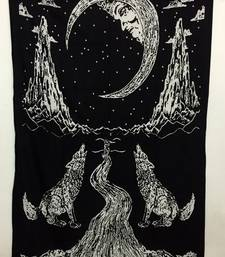 The Moon Twin Tapestry Cotton White