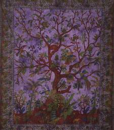 Tree Of Life Purple Queen Tapestry Cotton