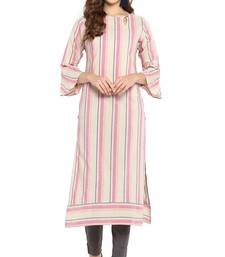 Cotton Weaved Straight Kurta With Narrow Pant