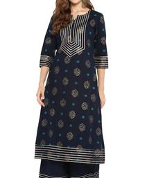 Cotton Gota Lace Straight Kurta With Palazzo