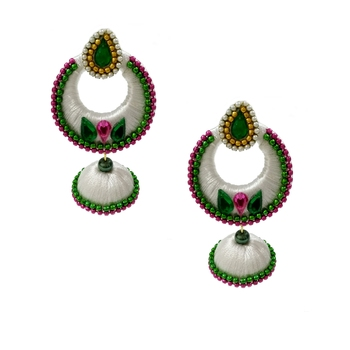 White chandbali earrings