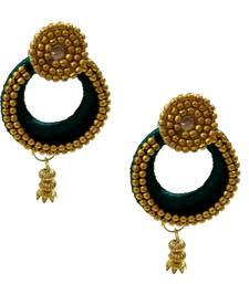 Buy Green chandbali earrings chandbali online
