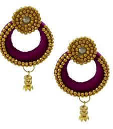 010a741ac Purple chandbali earrings