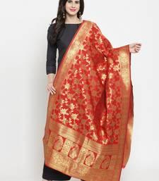 Red Banarasi Art Silk Women's Dupatta