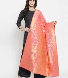 Pink Banarasi Art Silk Women's Dupatta