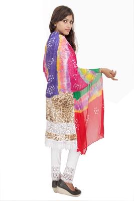 Multicolor Bandhej Dupatta