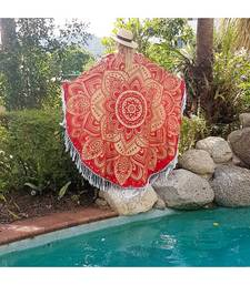 Buy Indian Mandala Round Beach Throw Table Cloth Picnic Handmade Wall Hanging Round Tapestry tapestry online