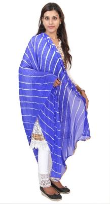 Blue Lahariya Dupatta