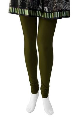 Just Women - Olive Green coloured 4 Way Stretch Leggings
