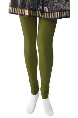 Just Women - Light Olive coloured 4 Way Stretch Leggings