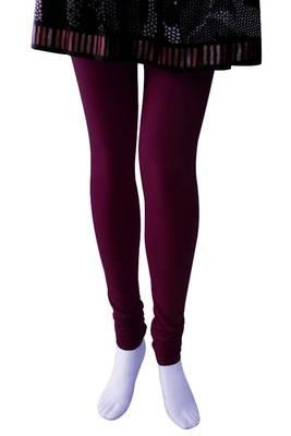 Just Women - Medium Violet coloured 4 Way Stretch Leggings