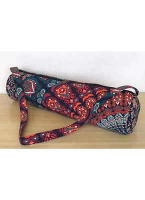 New Indian Multi Mandala Handmade Large Yoga Mat Carrier Bag with Shoulder Strap