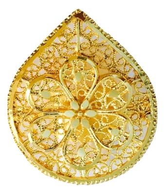 Big Gold Plated Finger Ring Arabian African, Adjustable Size