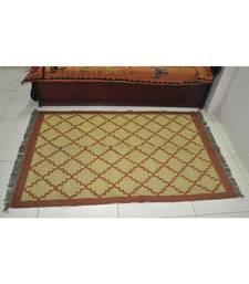 Traditional Handmade Area Rug Weave Jute Dhurrie Yoga Mat Modern Carpat 80 X 48 Inches