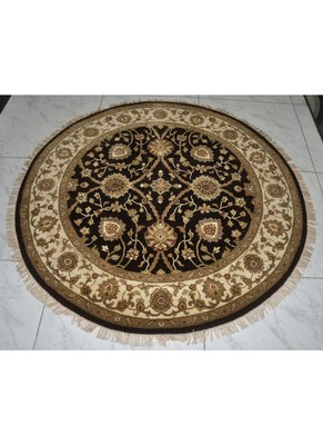 Lalhaveli Traditional Rug Carpet Black (72 x 72 Inches)