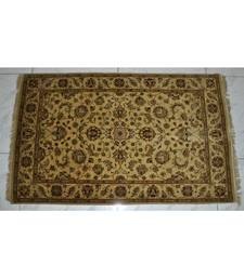 DRI00040 Traditional Hand Knotted Oriental Rug Square 48 X 72 Inches Beige