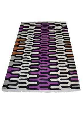 Lal Haveli cotton Handloom Carpet & Dhurrie for Room Decor 4 X 6 Feet