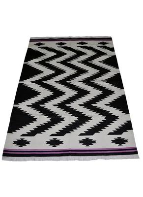 Lal Haveli Rajasthani Handmade Ethnic Design cotton Yoga Dhurrie Mat 4 X 6 Feet