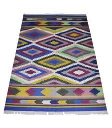 Lal Haveli Elegant Handmade cotton Dhurrie for Room Decor 4 X 6 Feet