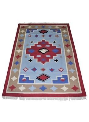 Lal Haveli cotton Yoga Dhurrie & Rug for Home Decor 4 X 6 Feet