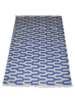 Lal Haveli Rajasthani Handmade cotton Dhurrie Mat 4 X 6 Feet