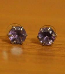Purple Amethyst       Studs