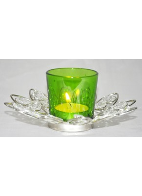 HND00313 Traditioanl Indian Heavenly Designed Home Decorative Crystal candle Holder